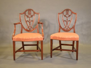 set of antique English chairs