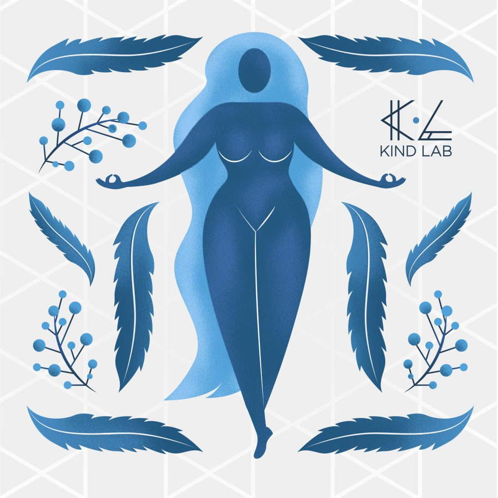 Kind Lab Serenity Muse Blue Woman Illustration