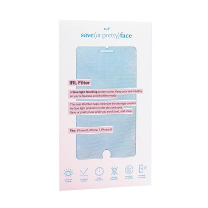 save ur pretty face packaging, blue and white