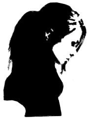 silhouette drawings paintings silhouettes drawing clipart woman sad vet emergency returned painting sketch clip shadow library cute wrote hair kindness