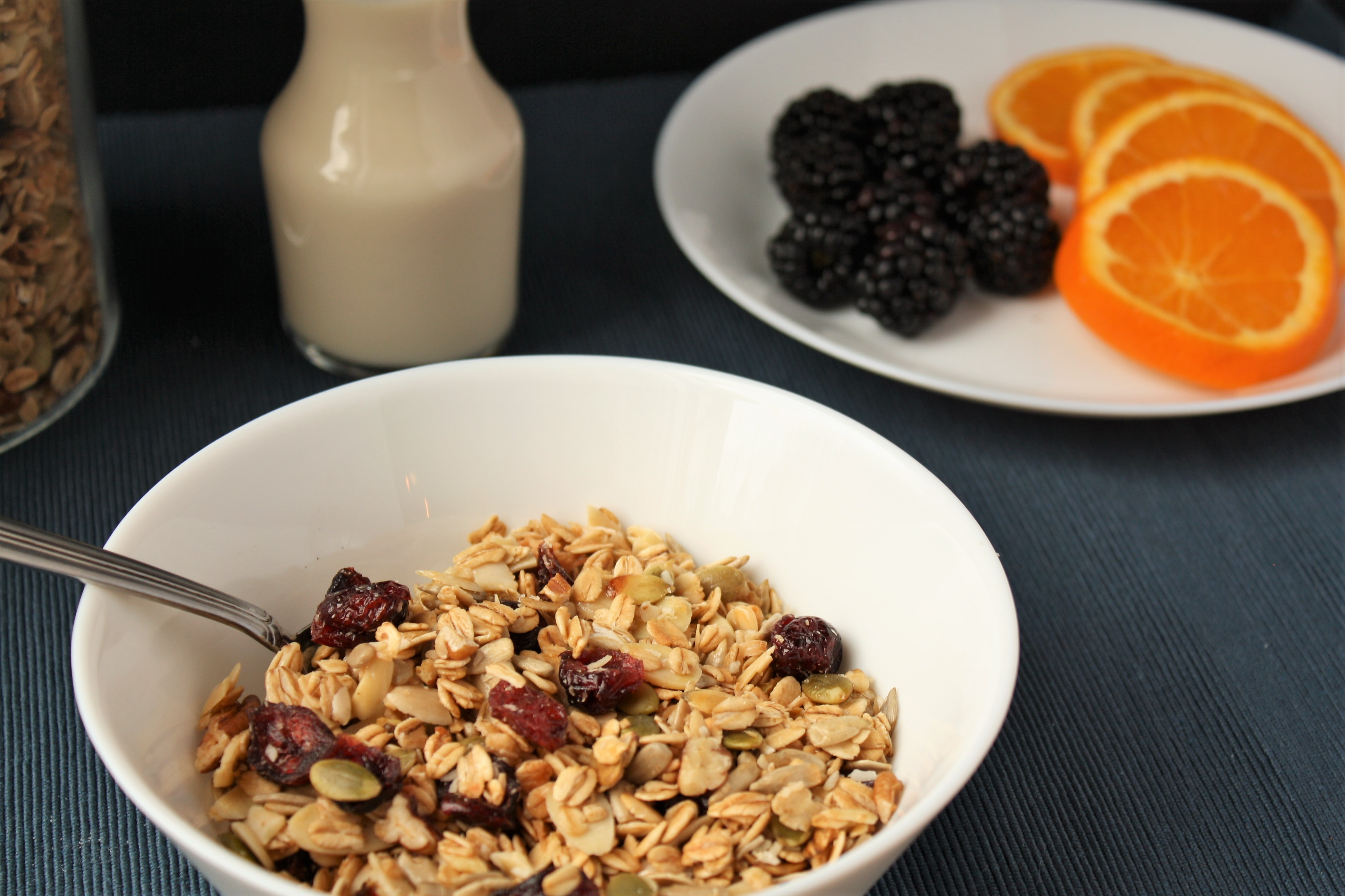 Cranberry Maple Nut Granola…breakfast of champs!