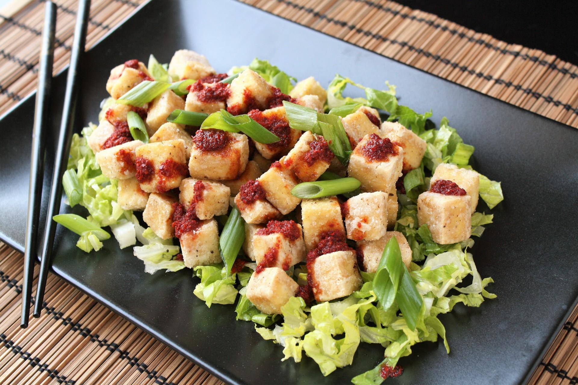 Crispy Salted Tofu with Spicy Pepper Sauce (aka: CRISPY SPICY TOFU OF AWESOMENESS)