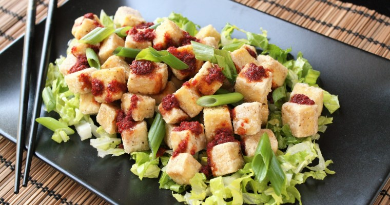 Crispy Salted Tofu with Spicy Pepper Sauce (aka: CRISPY SPICY TOFU OF AWESOMENESS)