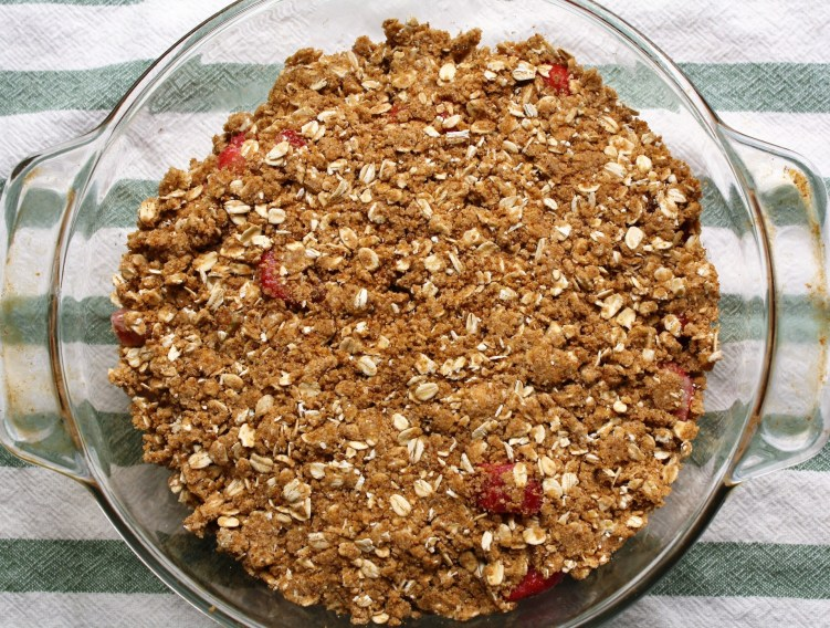 Strawberry Rhubarb Crisp - Top Crust