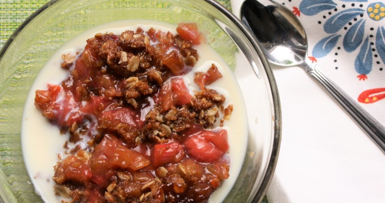 Springtime Strawberry Rhubarb Crisp