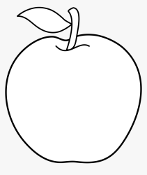 Apple Tree Clipart Apple Fruit Clipart Black And White HD Png Download kindpng