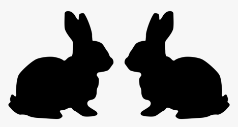 rabbit clip bunny silhouette hare easter clipart hd kindpng