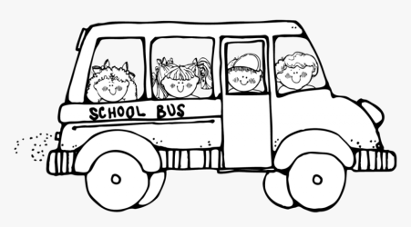 Free School Cliparts Outline Clip Art School Bus Black And White HD Png Download kindpng