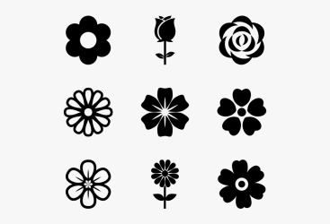 Clip Art Flower Vector Flower Vector Icon Free HD Png Download kindpng