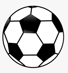 Clipart Black And White Ball Transparent Cartoons Soccer Ball Clipart Black And White HD Png Download kindpng