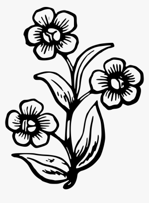 flower drawing flowers clipart plant easy drawings stencil draw clip pretty spring gambar head getdrawings transparent outline plants cliparts bunga