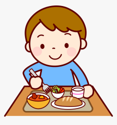 lunch eating clipart clip food child kid eat transparent children hd meal cartoon healthy toddlers library background planning illust clipground