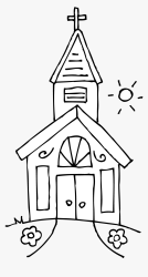 Church Clipart On Clip Art Free And Church 2 Clipartbold Church Clipart Black And White HD Png Download kindpng