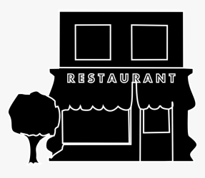 Restaurant Black Icon Download Restaurant Black And White Icon HD Png Download kindpng
