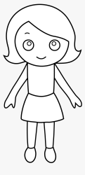 Clip Art Free Girl Cliparts Download Outline Drawing Of A Small Girl HD Png Download kindpng