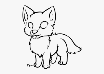 Cute Simple Wolf Drawing HD Png Download kindpng