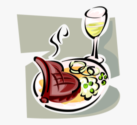 Vector Illustration Of Prime Rib Roast Beef Meal With Cliparts Essen Und Trinken HD Png Download kindpng