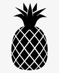 Pineapple Black And White Pineapple Png Transparent Png kindpng