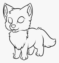 Drawing Werewolf Baby Transparent Png Clipart Free Easy Wolf Coloring Sheet Png Download kindpng