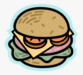 Vector Illustration Of Fast Food Hamburger Meal With HD Png Download kindpng