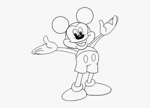 mickey mouse drawing draw easy outline guides transparent clip face kindpng clubhouse library clipart