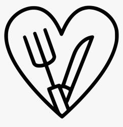 Food Icon Png Black And White Food Png Transparent Png kindpng