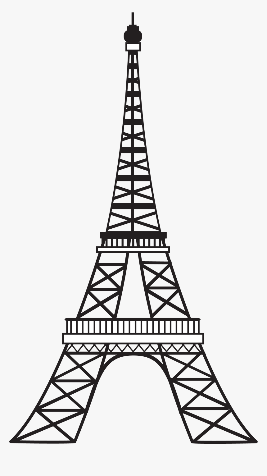 Simple Eiffel Tower Drawing : simple, eiffel, tower, drawing, Transparent, Tumblr, Images, Simple, Eiffel, Tower, Outline,, Download, Kindpng