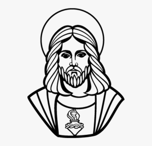 jesus drawing easy catholic face christ church transparent graphic cross clipart clip coloring statue symbol vectorportal carrying desenho gambar sholders