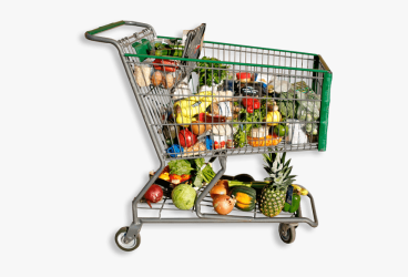 Full Shopping Cart Grocery Shopping Cart Png Transparent Png kindpng
