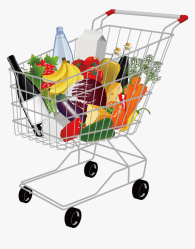 Transparent Grocery Png Grocery Shopping Cart Png Png Download kindpng