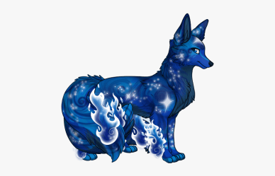 Anime Cute Galaxy Wolf HD Png Download kindpng