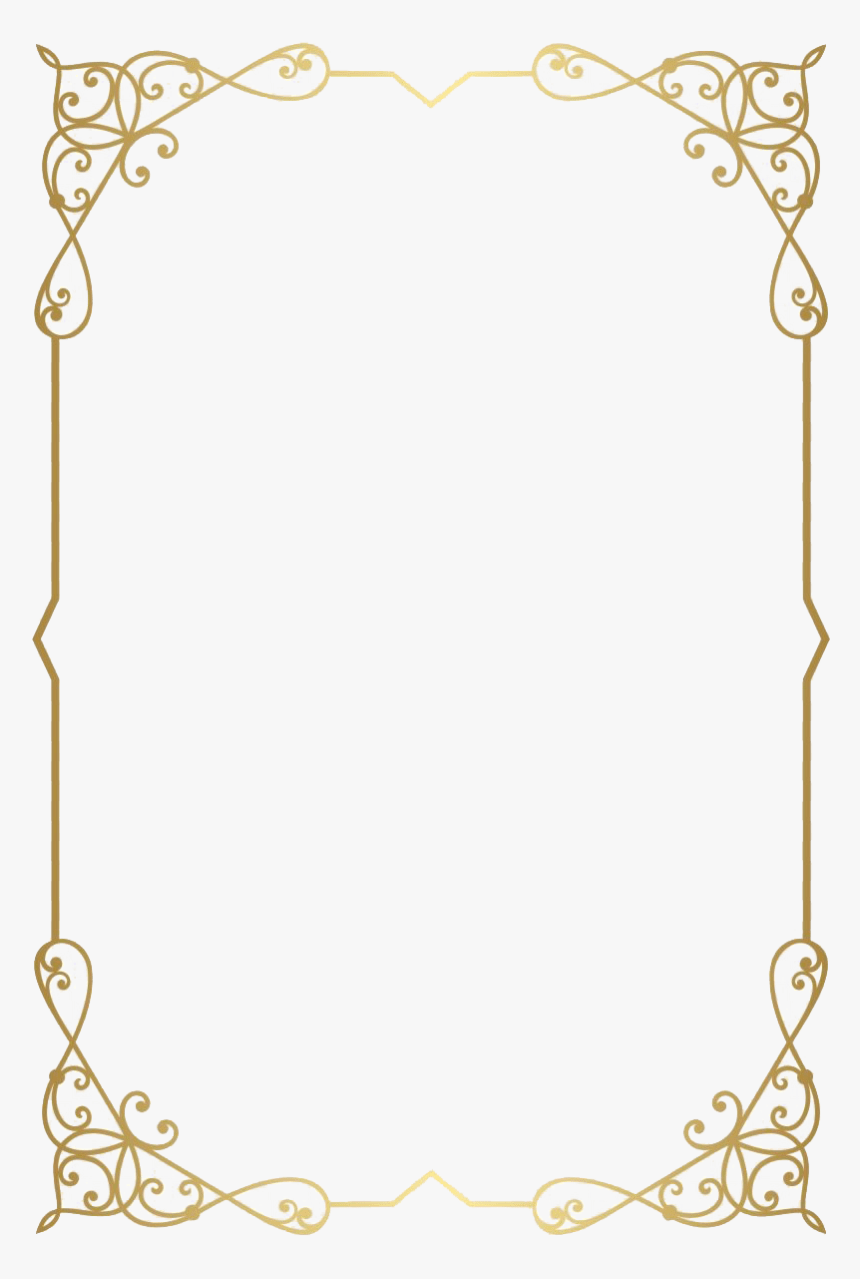 Gold Border Transparent Background : border, transparent, background, Golden, Border, Transparent, Background, Download, Kindpng