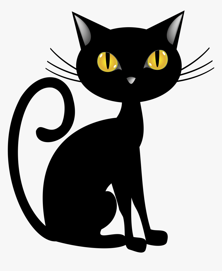 Black Cat Clip Art Free : black, Halloween, Black, Clipart,, Transparent, Kindpng