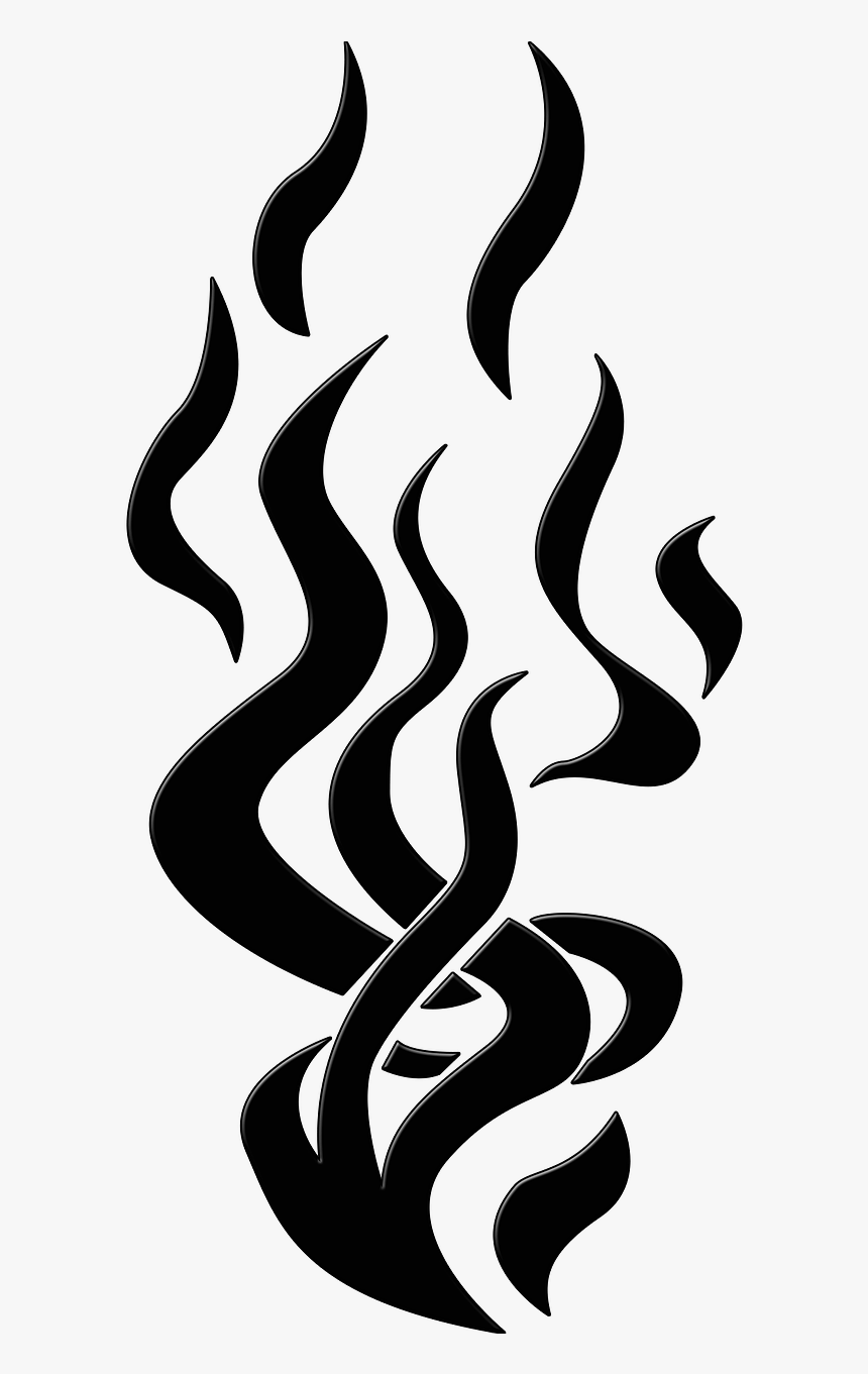 Black Flames Png : black, flames, Silhouette, Black, Flame, Transparent, Kindpng