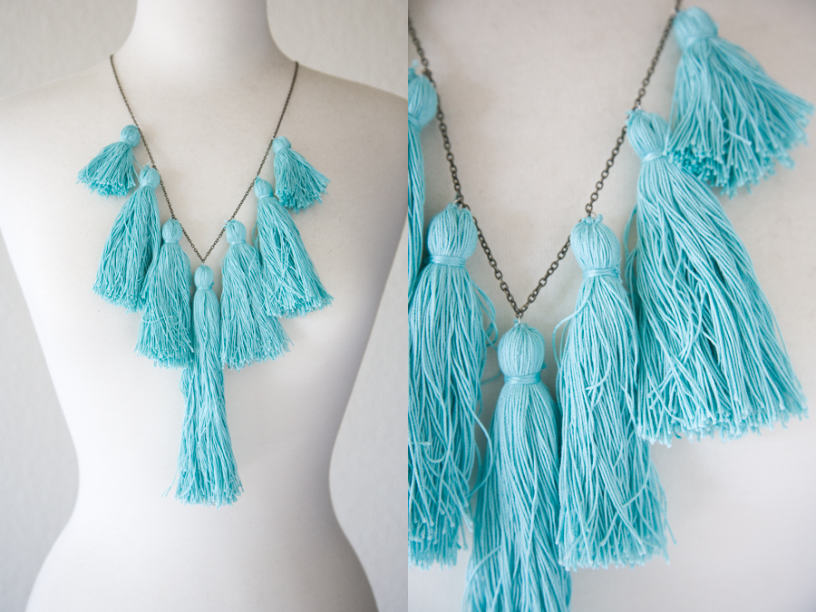 DIY necklace, Tassel Necklace