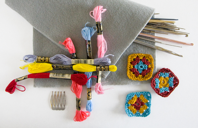 Granny Squares, crochet