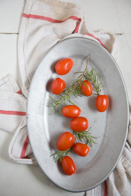 grape tomatoes, rosemary