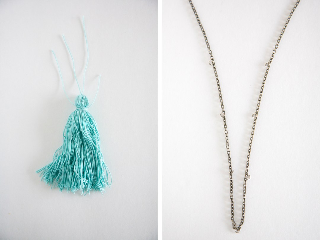 Anthropologie Inspired tassel neckalce