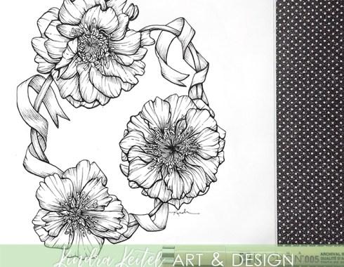 geum botanical illustration