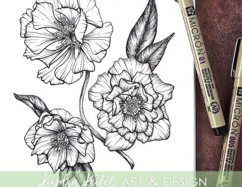 hellebore botanical illustration