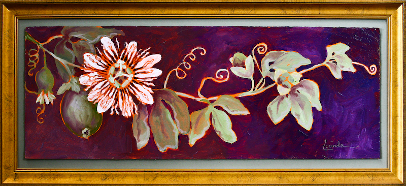 Passion Flower and Fruit #1 by Lucinda Hayes