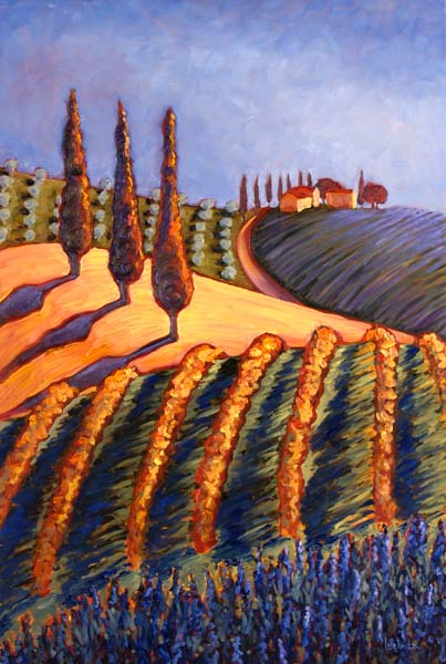 Shadows in Tuscany by Lucinda Hayes