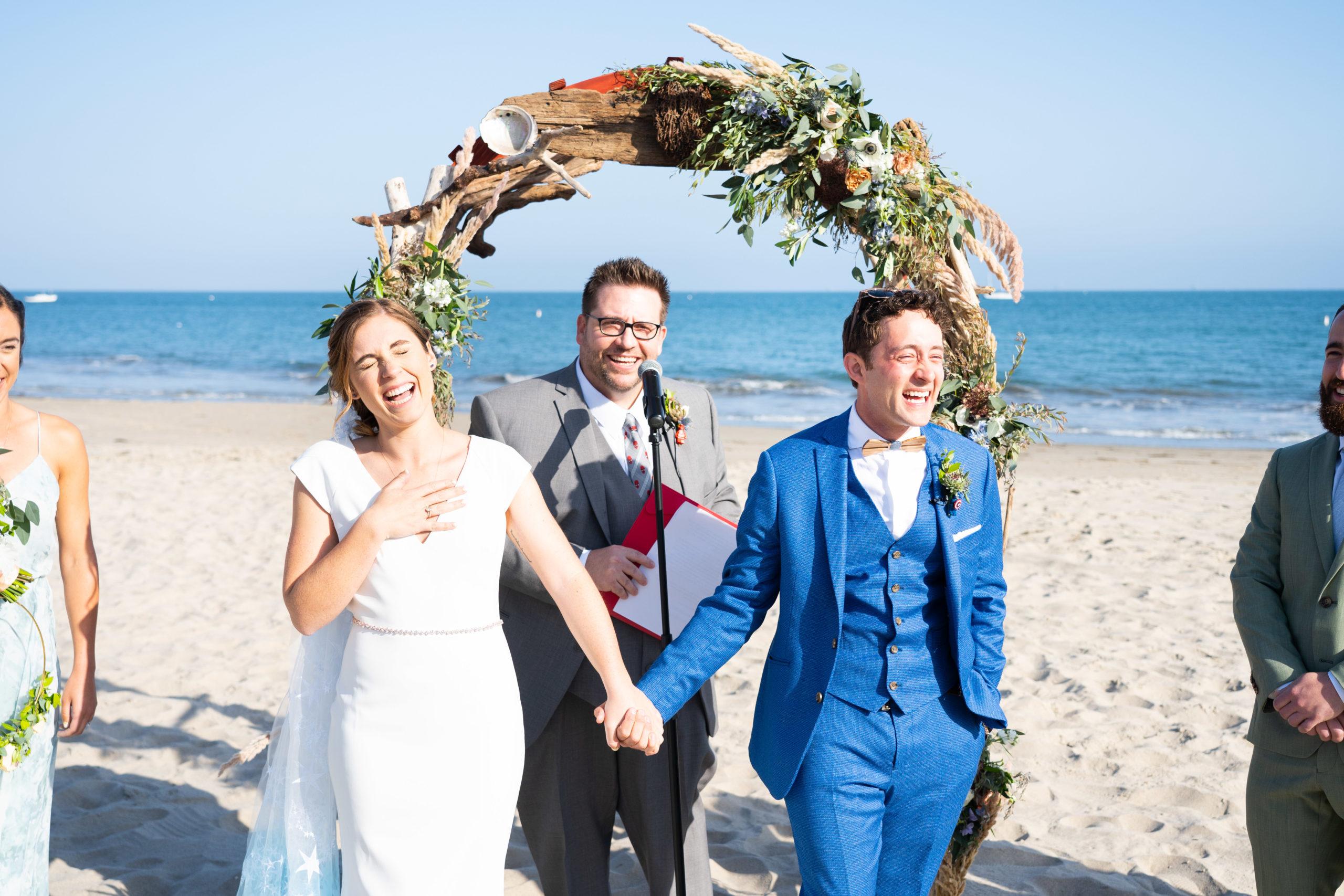 Bride Groom Ceremony on Beach