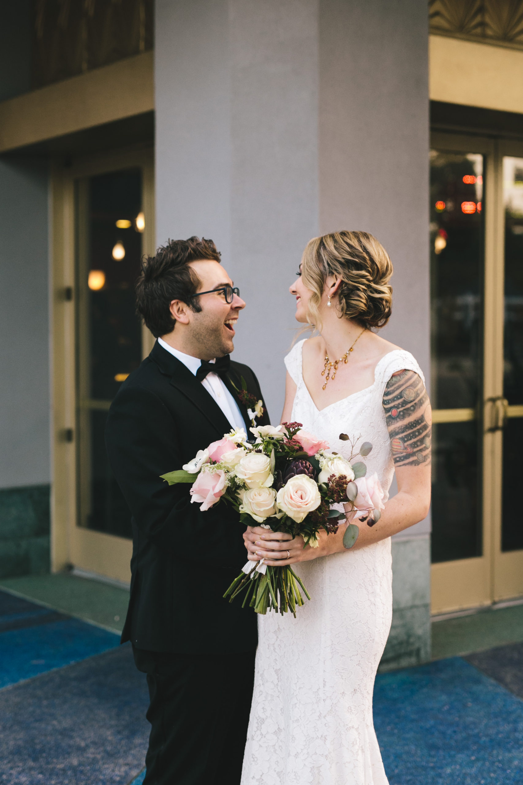 Couple married at Culver Hotel