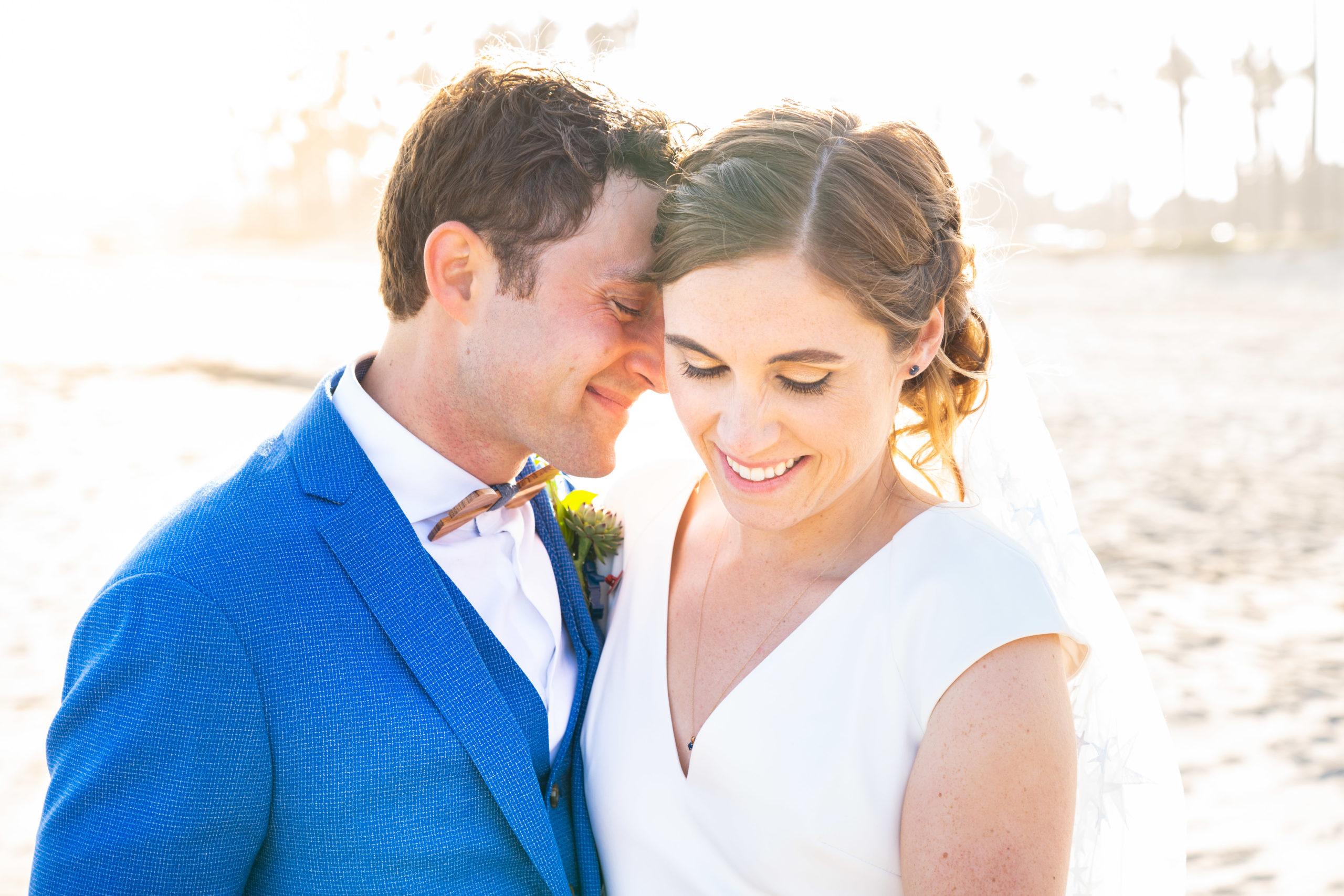 Couple married on beach