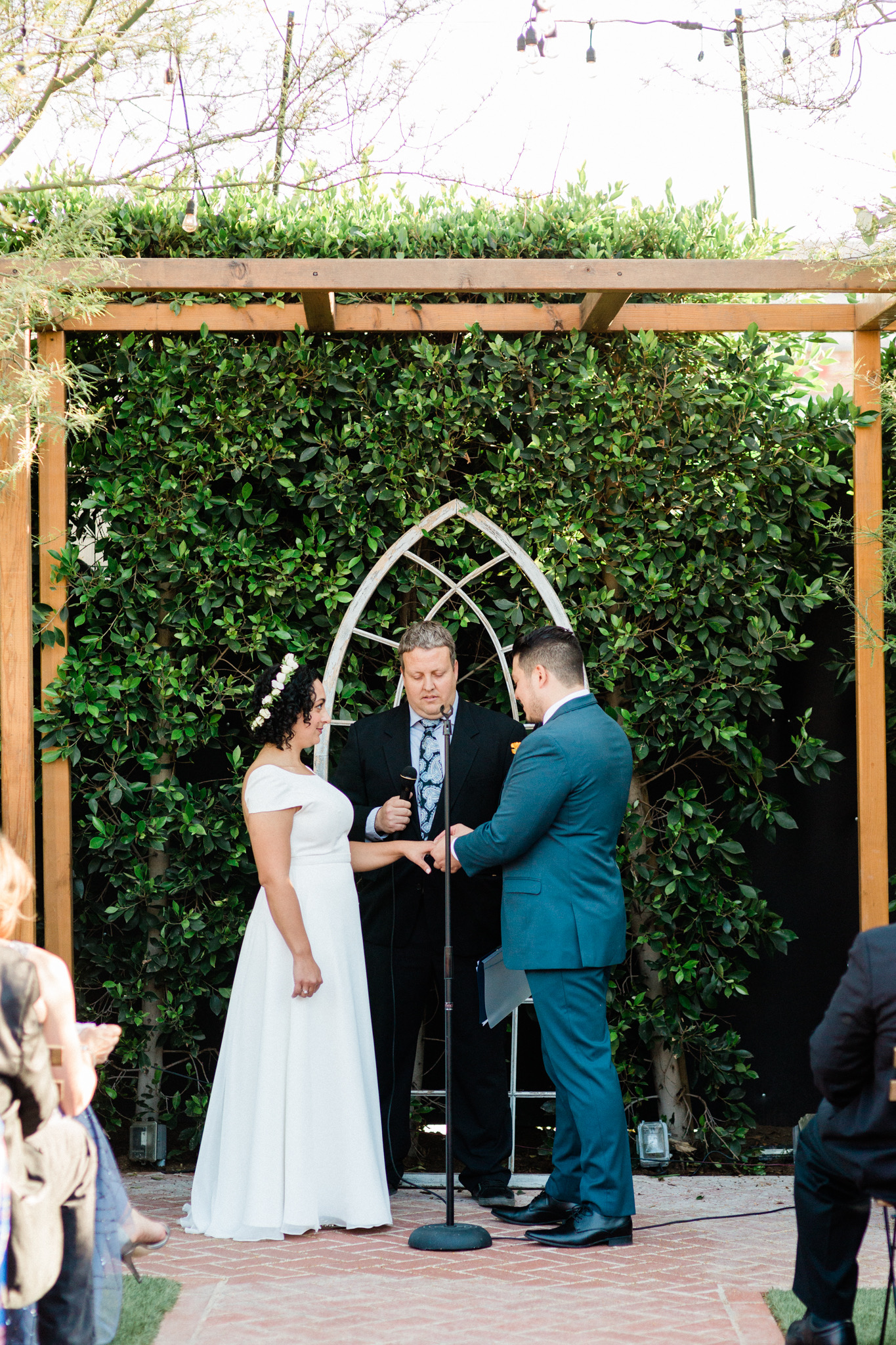 small wedding ceremony at The Ruby Street