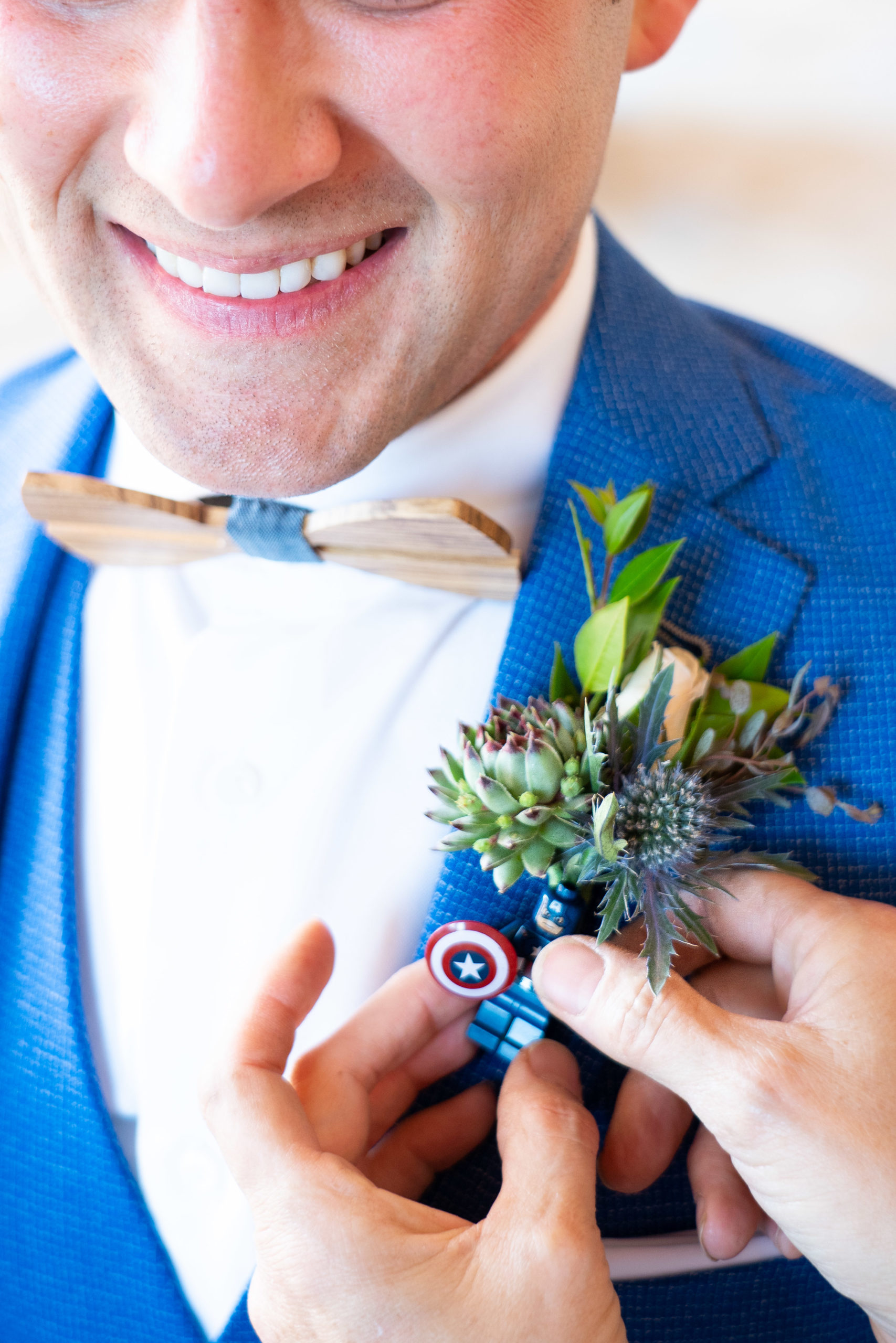 Grooms Lego Boutonniere
