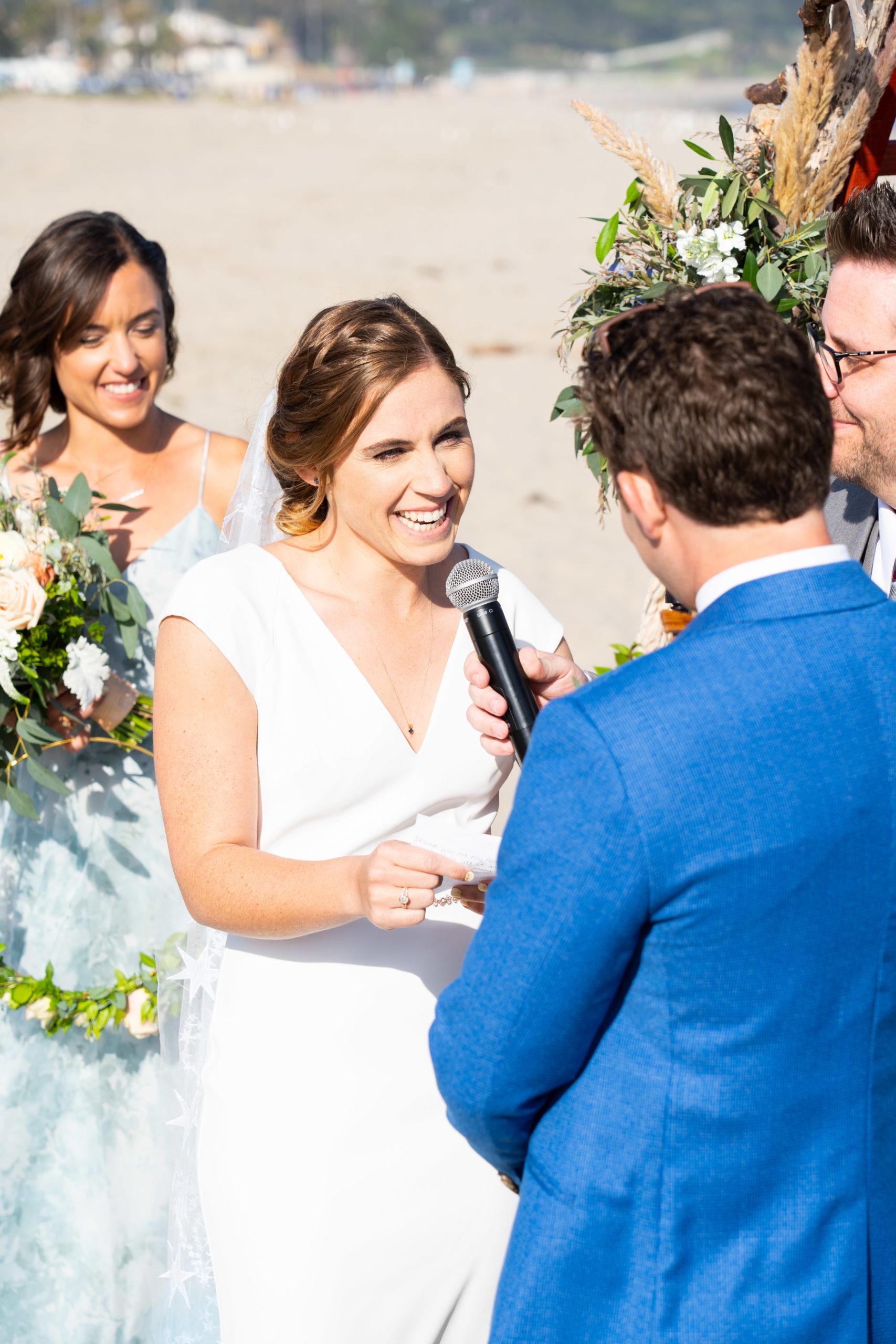 Bride's vows at ceremony