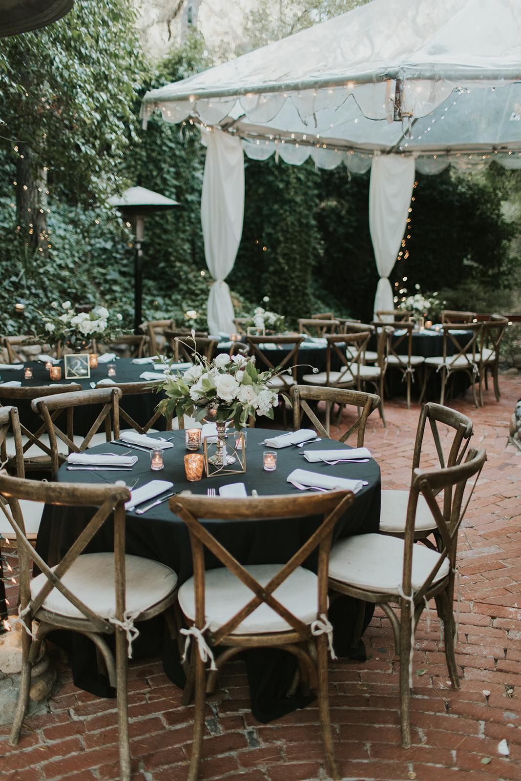 intimate wedding reception dinner