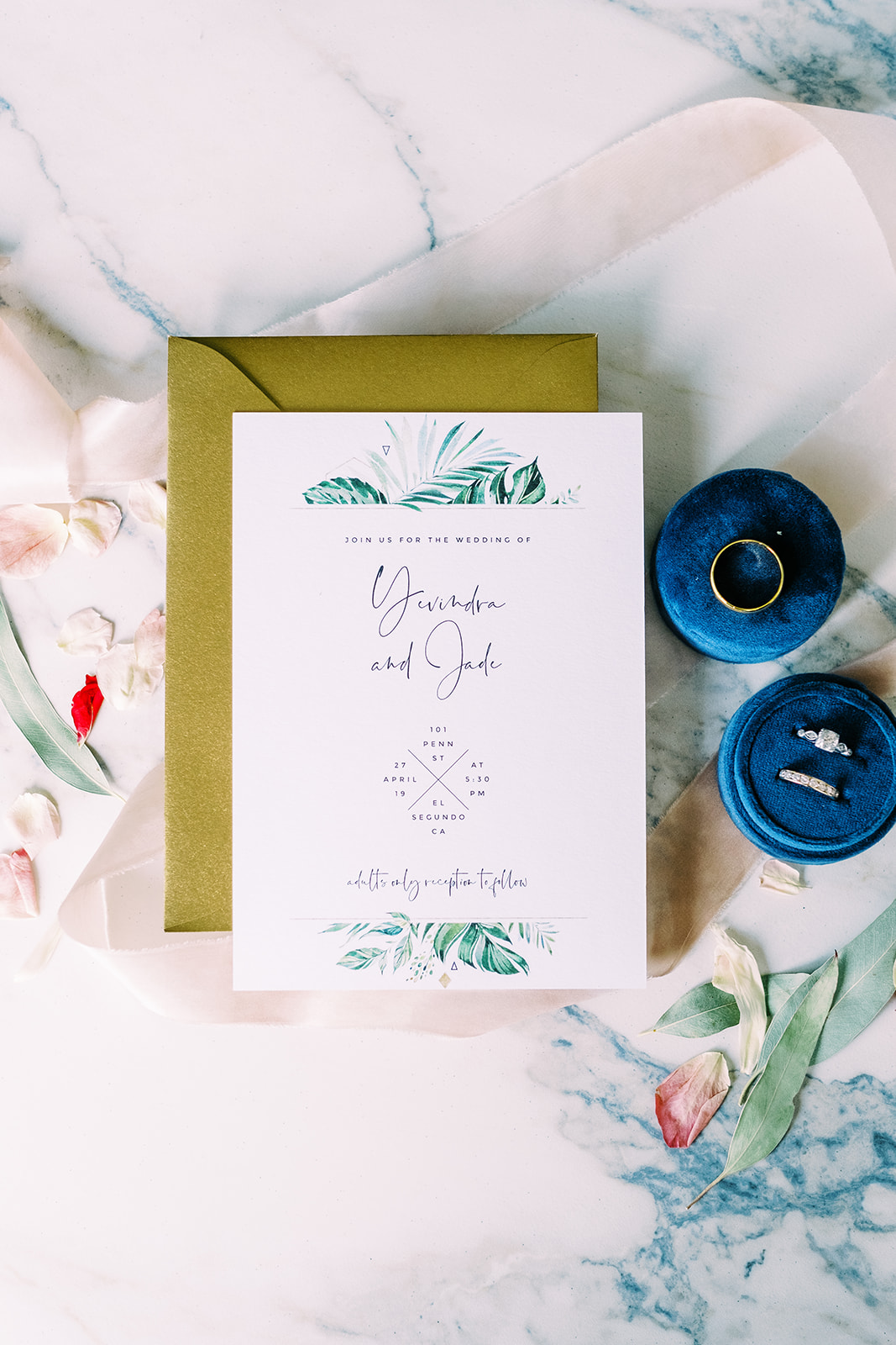 Modern Industrial Wedding Invite